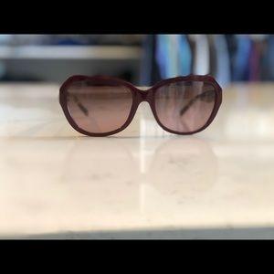 Tory Burch Maroon Squared Cat-eye Sunglasses